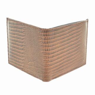 LL Fashion Men's Snake Skin Embossed Leather Bifold Wallet
