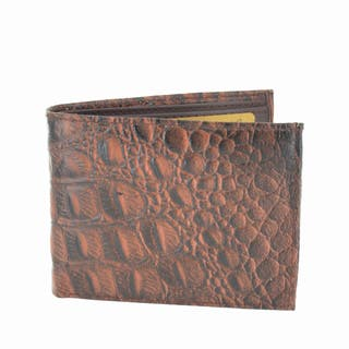 LL Fashion Men's Crocodile Skin Embossed Leather Bifold Wallet|https://ak1.ostkcdn.com/images/products/10434206/P17531786.jpg?impolicy=medium