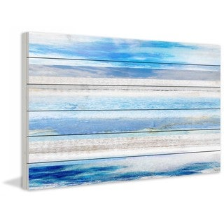 """Parvez Taj - """"Baia Azul"""" Print on White Wood"""