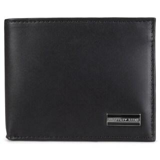 Geoffrey Beene Men's Genuine Leather Passcase Billfold Bi-fold Wallet