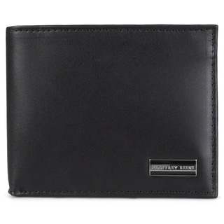 Geoffrey Beene Men's Genuine Leather Passcase Billfold Bi-fold Wallet