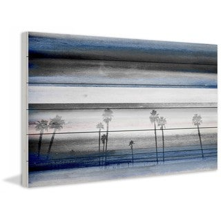 "Parvez Taj - ""Stormy Calm"" Print on White Wood"