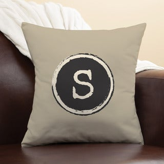 Trendy Initial Personalized Initial Throw Pillow