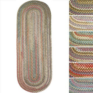 Charisma Indoor/Outdoor Oval Braided Runner Rug by Rhody Rug (2' x 8')
