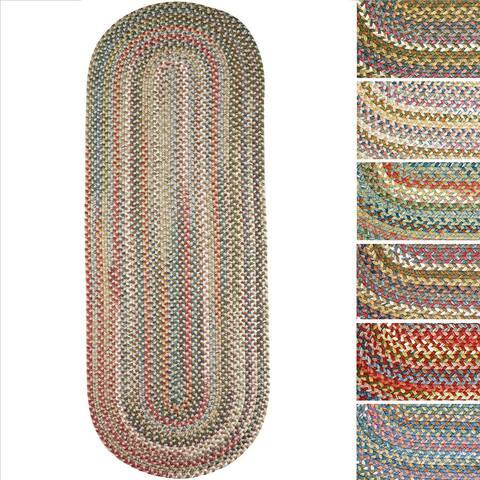 Charisma Indoor/Outdoor Oval Braided Rug by Rhody Rug (2' x 6') - 2' x 6' Runner