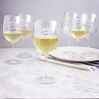 Personalized 12-ounce White Wine Glasses (Set of 6)