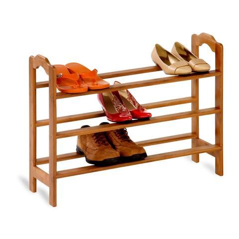 Honey Can Do 3-tier Bamboo Shoe Rack
