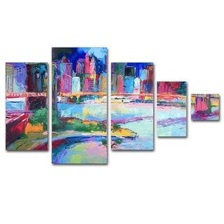 Richard Wallich 'Brooklyn' 5 Panel Art Set