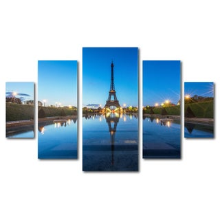 Mathieu Rivrin 'Blue Hour' 5 Panel Art Set