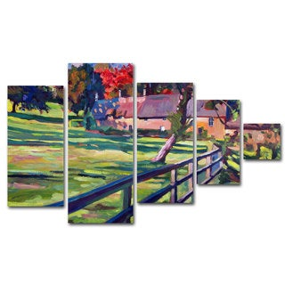 David Lloyd Glover 'Country House' 5 Panel Art Set