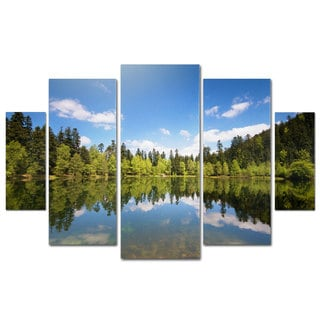 Philippe Sainte-Laudy 'Lake Maix' 5 Panel Art Set