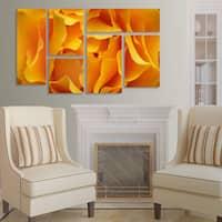 Kurt Shaffer 'Hypnotic Yellow Ro' 6 Panel Art Set