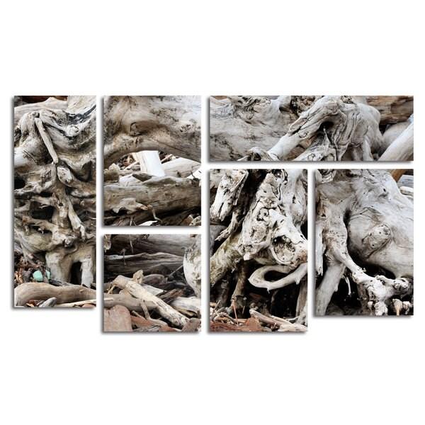 Kurt Shaffer 'Drift Wood' 6 Panel Art Set