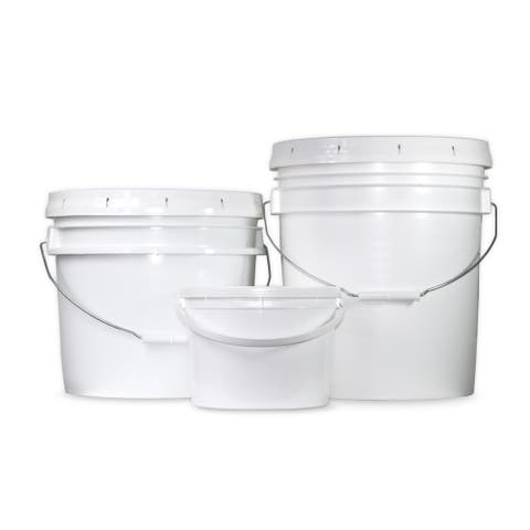 Heavy-Duty BPA-Free Plastic Buckets with Lids
