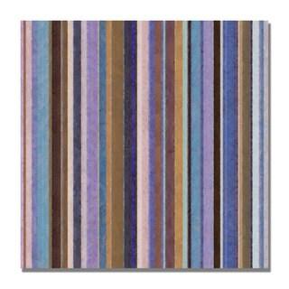 Michelle Calkins 'Comfortable Stripes II' Canvas Art