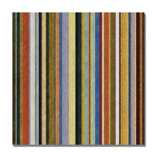 Michelle Calkins 'Comfortable Stripes V' Canvas Art