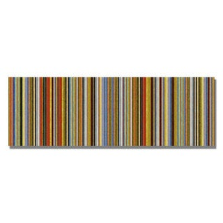 Michelle Calkins 'Comfortable Stripes VII' Canvas Art