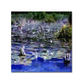 Michelle Calkins 'Water Lilies in the River' Canvas Art