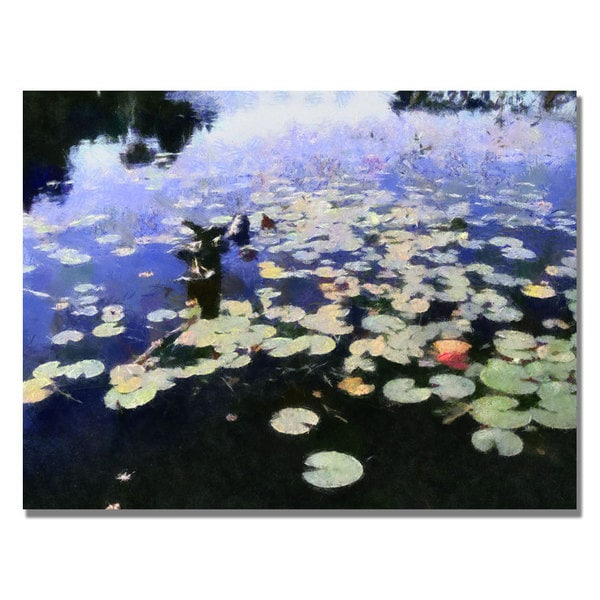 Michelle Calkins 'Water Lilies in the River II' Canvas Art - Multi