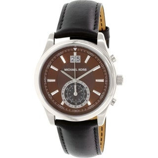 Michael Kors Men's MK8415 Brown Leather Swiss Quartz Watch