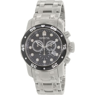 Invicta Men's Pro Diver 17082 Silver Stainless-Steel Swiss Chronograph Watch