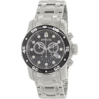 Invicta Men's Pro Diver  Silver Stainless-Steel Swiss Chronograph Watch