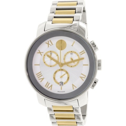 Movado Men's Bold Silver Metal Swiss Quartz Watch