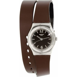 Swatch Women's Irony YSS284 Brown Leather Swiss Quartz Watch