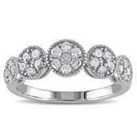 Miadora Sterling Silver 1/2ct TDW Diamond Ring