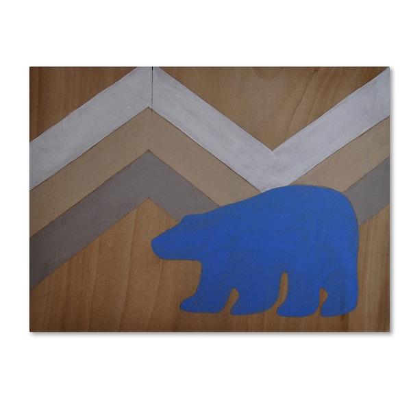 Nicole Dietz 'Blue Polar Bear' Canvas Art - Multi