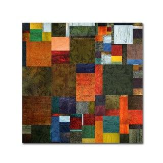 Michelle Calkins 'Brocade Color Collage 3' Canvas Art