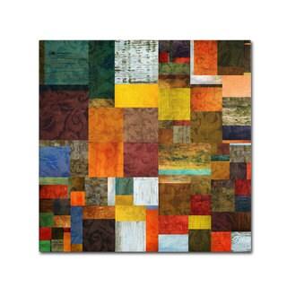 Michelle Calkins 'Brocade Color Collage 1' Canvas Art