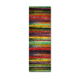 Michelle Calkins 'Brocade and Stripes Tower 2' Canvas Art