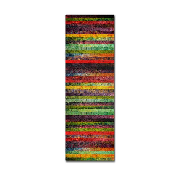 Michelle Calkins 'Brocade and Stripes Tower 1' Canvas Art