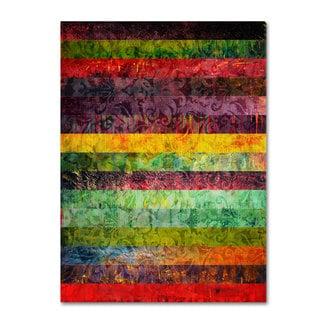 Michelle Calkins 'Brocade and Fifteen Stripes 2' Canvas Art