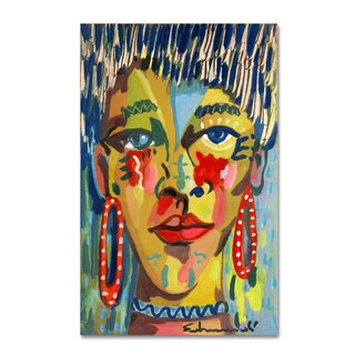 Echemerdia 'Red Earing' Canvas Art