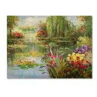 Victor Giton 'Water Lilies' Canvas Art