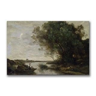 Jean Baptiste Corot 'River Landscape' Canvas