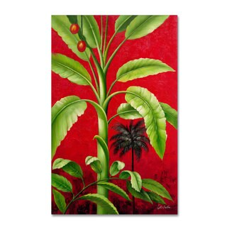 Victor Giton 'Tropical Palm II' Canvas Art