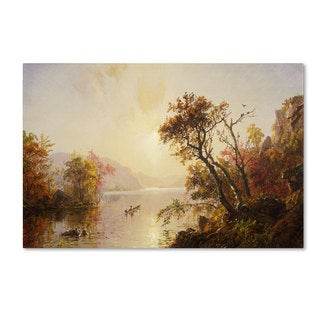 Jasper Cropsey 'Rowing Out of a Cove 1878' Canvas Art