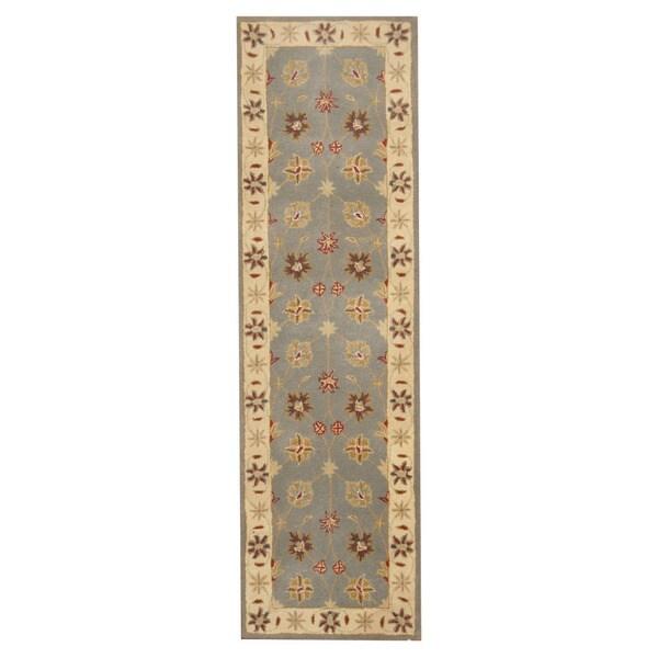 Herat Oriental Indo Hand-tufted Mahal Wool Runner (2'5 x 8'1)