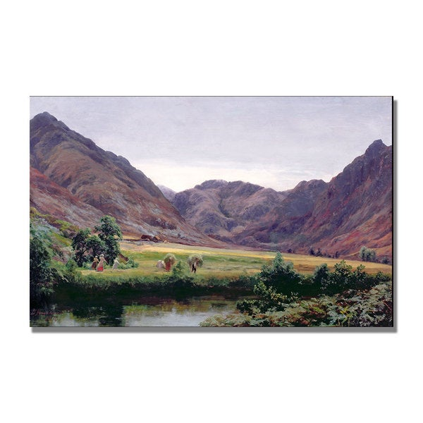 David Farquharson 'Haydays' Canvas Art - Multi