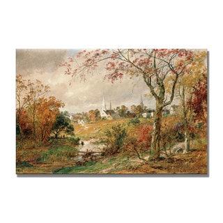 Jasper Cropsey 'Autumn Landscape' Canvas Art