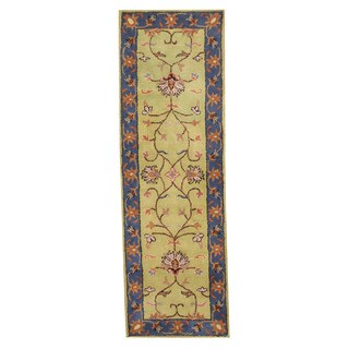 Herat Oriental Indo Hand-tufted Mahal Wool Runner (2'7 x 8'1)
