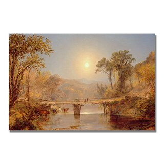 Jasper Cropsey 'Indian Summer on the Delaware' Canvas Art