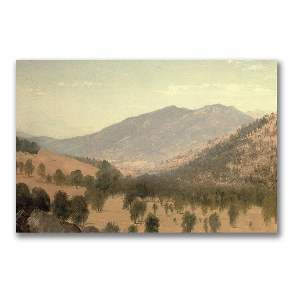 John Kensett 'Bergen Park Colorado' Canvas Art - Multi