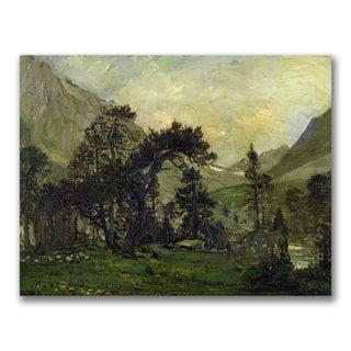 Charles Daubigny 'The Mahoura at Cauterets' Canvas Art