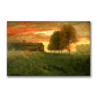 George Inness 'Sunset Montclair 1892' Canvas Art