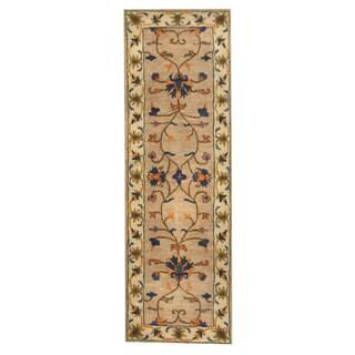 Handmade Herat Oriental Indo Mahal Wool Rug (India) - 2'7 x 8'1