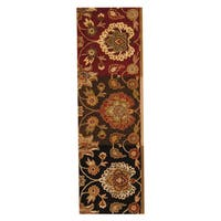 Herat Oriental Indo Hand-tufted Mahal Wool Runner - 2'6 x 8'